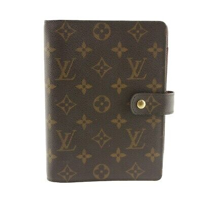 Auth LOUIS VUITTON Agenda MM Day Planner Cover Monogram Canvas R20004 #f36829