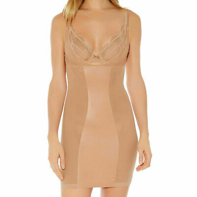 Wacoal Shaping Dress Slip Vision S 10 M 12 Nude Beige Own Bra Smoothing 112011