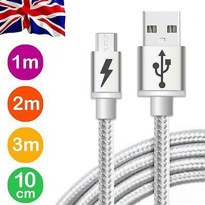 Long Braided Fast Charge Charger Micro USB Charge Data Cable For Android Samsung