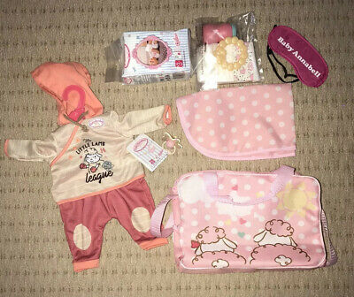 Baby Annabell Changing Bag For Dolls Bundle Clothes Dummy Nappies Toys