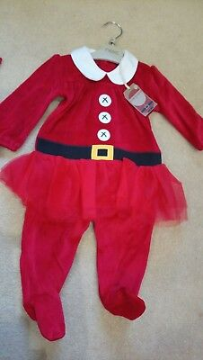 Next baby girls Christmas dress up red tutu outfit 3-6 months