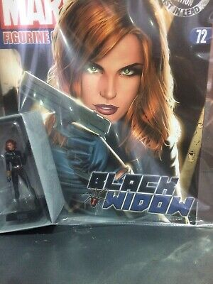 Eaglemoss Marvel Classic Figurine Collection # 72 BLACK WIDOW + Magazine
