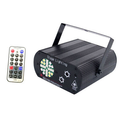 24 Leds RGB Portable Led Stage Laser Light DJ KTV Projector Disco Party Lamp