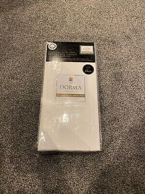Dorma NQP White Single Fitted Sheet 500 Thread Count