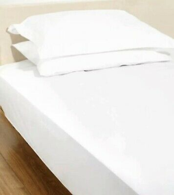 Hotel Collection 300Thread Count White Cotton Modal Kingsize Fitted Sheet -NQP