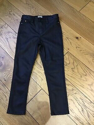 Girls Aged 6 River Island leather look trousers- black