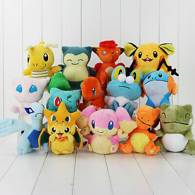 1pcs Rare Pokemon Collectible Doll Character Soft Toy Stuffed Teddy Xmas Gift
