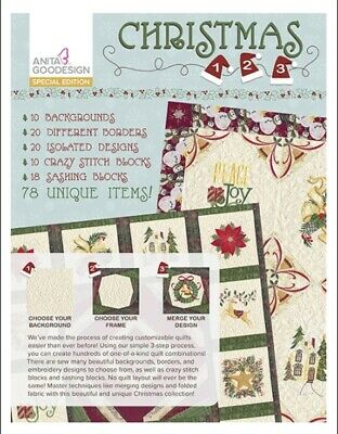 Anita Goodesign Christmas 123 -Special Edit - Machine Embroidery Designs Usb Pes