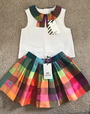 Girl's NO ADDED SUGAR Crazy Check Collar Blouse & 'Gloria' Skirt, Age 4, BNWT!