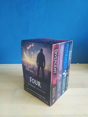Divergent Insurgent 4 Books Young Adult Paperback Set By Veronica Roth.