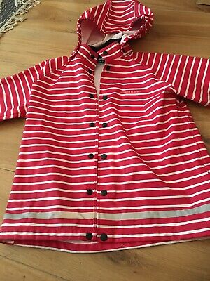 Polarn O Pyret Raincoat Red Striped 6-8 Yrs