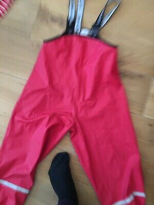 Polaryn O Pyret Waterproof Dungarees Red 6-8 Yrs