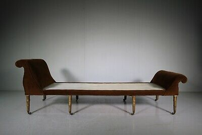 Regency Antique Daybed with Simulated Bamboo Legs.