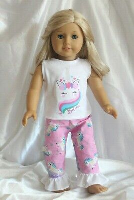 Dress Outfit fits 18 inch American Girl Doll Clothes Lot Unicorn Hearts