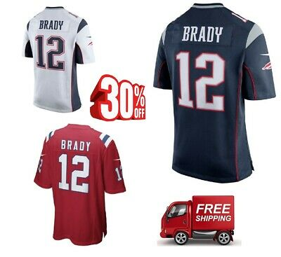 New England Patriots #12 Tom Brady Men's Stitched Jersey Free Shipping