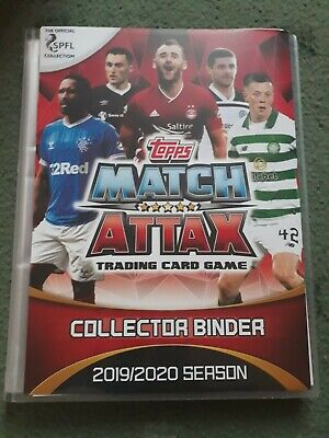 Topps Spfl (Spl Scottish) Match Attax 2019/20 Binder - Full Set Of 376 Cards