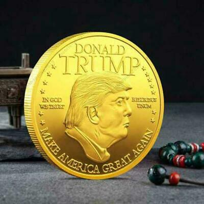 2020 President Donald Trump Inaugural Gold Plated Commemorative Novelty Coin @MY