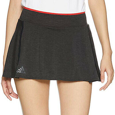 adidas Performance Womens Barricade Slim Fit Tennis Sports Skirt Skort - Black