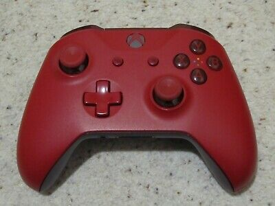 Official Microsoft Xbox One S 1708 Red Wireless Controller.
