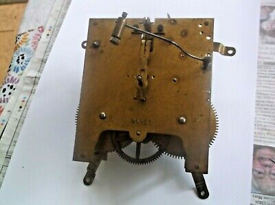 Mechanism  From An Old  Mantle Clock Working Order Ref Cfp