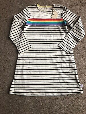 Little Bird By Jools Oliver Rainbow Stripe Dress 9-10 Years