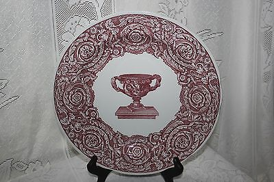 Spode ARCHIVE COLLECTION CRANBERRY Warwick Vase Dinner Plate