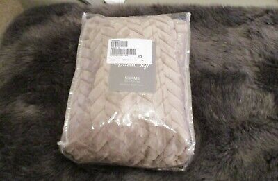 Cozee Home Velvetsoft Braided Texture Filled Set of 2 Shams Mink New