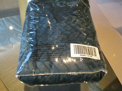 Cozee Home Velvetsoft Braided Texture Filled Set of 2 Shams Teal New