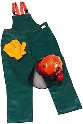 German Chainsaw Trousers /Bib  ,Helmet , Gloves  And Ear Muffs   Safety Kit Xxl