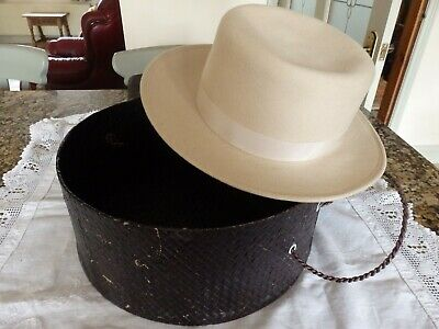 antique hat and hat box