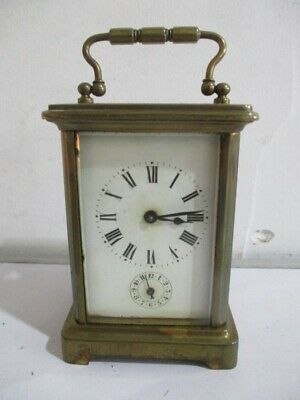 A French Brass Chiming Carriage Clock A/F