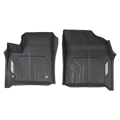 GM OEM 2018 2019 Chevy Traverse All Weather Floor Mats Black With Logo 84331850