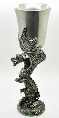Platinum Dragon Pewter Goblet (Limited Edition) by Fellowship Foundry