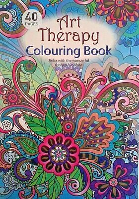 ART THERAPY GEOMETRIC Adults Colouring Book Creative Anti Stress - A4 Size