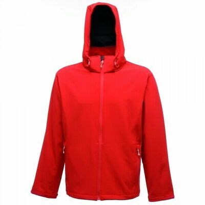 Mens Red Outdoor Soft-shell-Jacket Regatta Arley Water Repell-TRA671 XXX-large