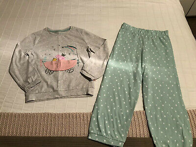 Gorgeous Infant Girls M&S Peppa Pig Carriage With Doors Pjs Pyjamas 4-5yrs Stars