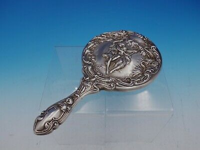 Lovers by Foster & Bailey Sterling Silver Hand Mirror with Figural Scene (#4488)