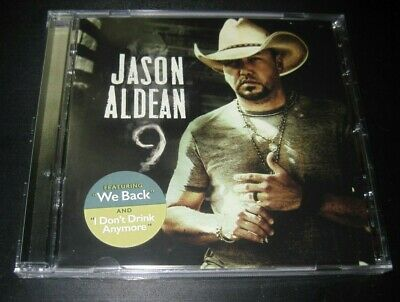 "Jason Aldean cd album 2019 ""9"" ""Nine"" sealed CRACKED CASE free shipping sealed"