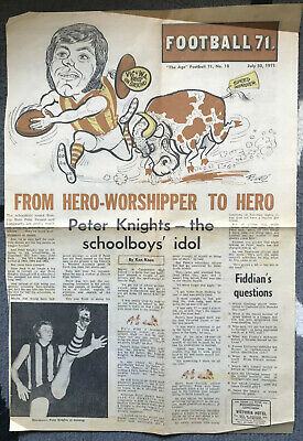Hawthorn Hawkss: Peter Knights 1971 Age Poster