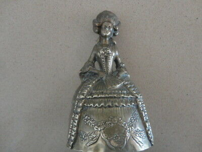 Antique 16cm Brass Bell  - Lady in Fine Ball Gown
