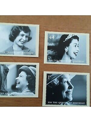 Group of 4 postcards celebrating HM The Queen's 80th Birthday, very collectable!