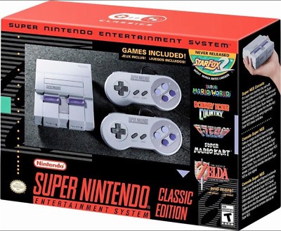 SNES Classic Mini Edition Super Nintendo Entertainment System Brand 21 Games