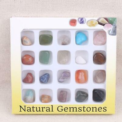 20pc Healing Reiki Polished Chakra Stone Crystal Natural Polished Chakra Stone