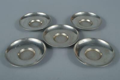 M1090: Japanese Tin TEA CUP TRAY Saucer Chataku 5pcs, auto Tea Ceremony