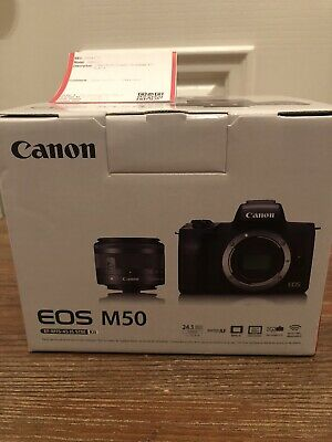 Canon EOS M50 Mirrorless Camera Kit with EF-M 15-45mm f/3.5-6.3 IS STM Zoom Lens