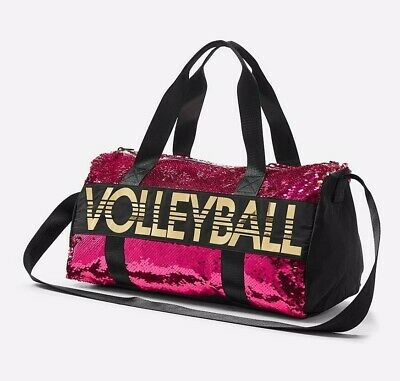 NWT Justice Girl Volleyball Flip Sequin Duffle Bag Tote Bag Pink  Christmas Gift