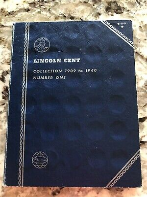 Lincoln Penny Cent 1909-1940 Partial Set with Vintage Whitman Folder - 36 Coins!