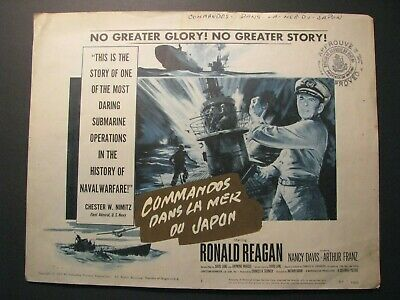*Rare Orig. 1957 Ronald Reagan Wwii *Hellcats Of The Navy* Foreign Lobby Card*