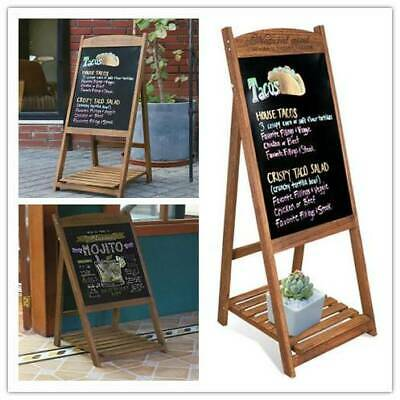 A-Board Wooden Pavement Sign Advertising Menu Pub Display Chalkboard Movable