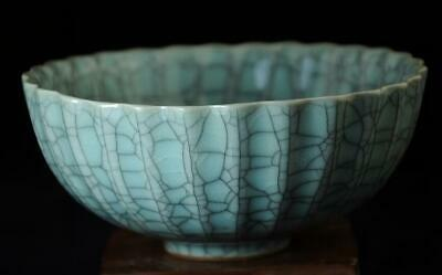 China Old Hand-made Song Porcelain Official Kiln Open Porcelain Bowl B01